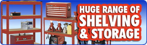 Garage shelving and tool racks