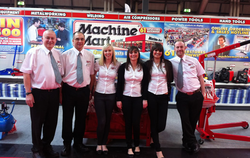 Staff On Stand At 2012 Motor Show