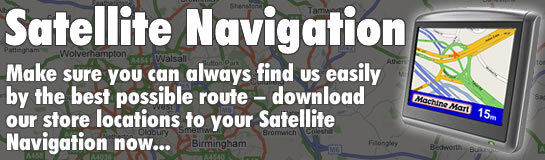 Sat Nav - Download Directions To Our Stores