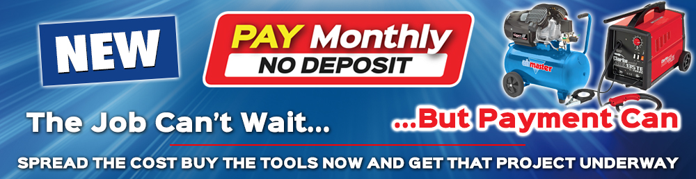 Pay Monthly No Deposit Finance Banner